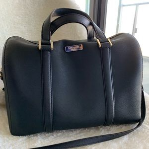 Kate Spade Black Leather Satchel Bag Purse